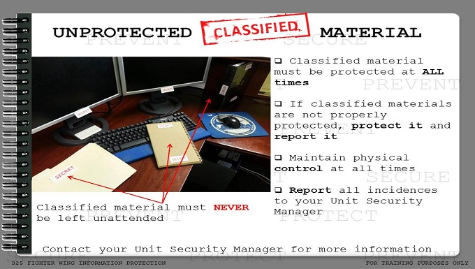 CCRI Protect Classified Material